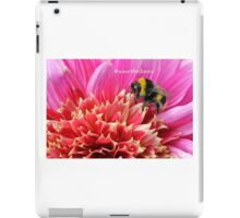 Bee on Dahlia with hashtag iPad Case/Skin