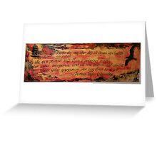 Ancient Mariner Greeting Card