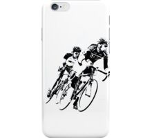 Black & White Cyclists into the Turn iPhone Case/Skin