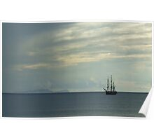 Tall Ship off Funchal Madeira Poster