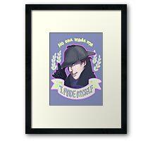 Sherlock - I Made Myself Framed Print