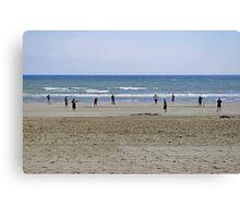 Beach Cricket, Bridlington Canvas Print