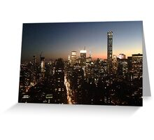 NYC at Night Greeting Card