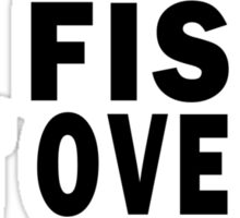 I FISH. GET OVER IT Sticker