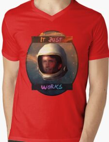Todd Howard in Space just works Mens V-Neck T-Shirt