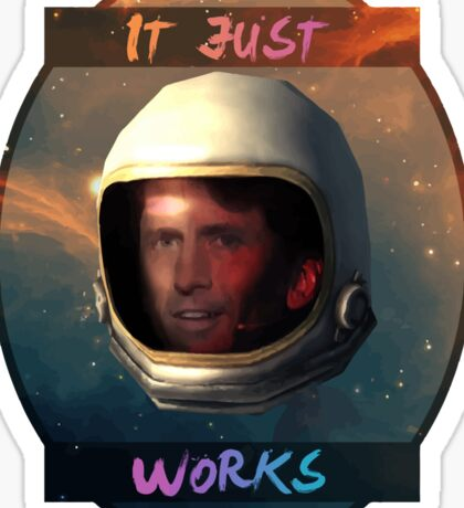 Todd Howard in Space just works Sticker