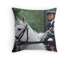 Saddled security Throw Pillow