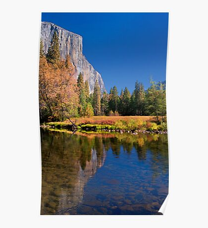 Autumn Reflection and El Capitan Poster