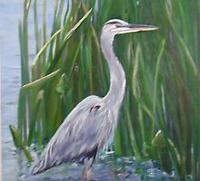 Great Blue Heron by katherine rohnert