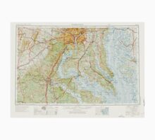 USGS Topo Map District of Columbia DC Washington 257790 1957 250000 One Piece - Long Sleeve