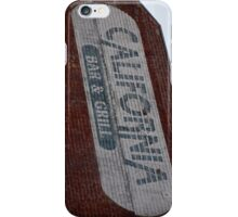 California Brick Sign... iPhone Case/Skin
