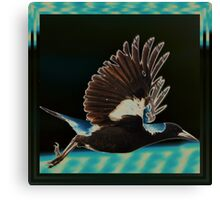 The very mobile magpie Canvas Print