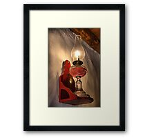 Old oil lamp Framed Print