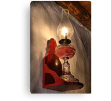 Old oil lamp Canvas Print