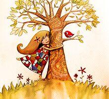 tree hugs by © Karin (Cassidy) Taylor