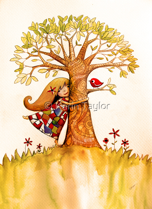 tree hugs by © Karin (Cassidy) Taylor