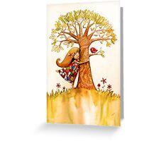 tree hugs Greeting Card