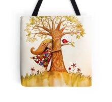 tree hugs Tote Bag