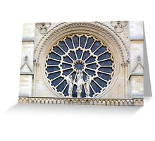 Notre-Dame Paris - The facade Rose (3) Greeting Card