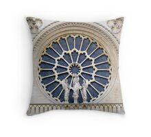 Notre-Dame Paris - The facade Rose (3) Throw Pillow