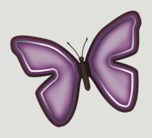 Elegant Purple Butterfly Illustration by Starzraven