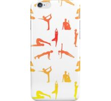 Yoga Positions In Gradient Colors iPhone Case/Skin