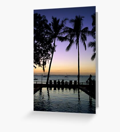 Tropical Serenity Greeting Card