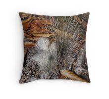 Furry Fungi Throw Pillow
