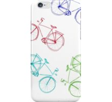 Bicycles doodle iPhone Case/Skin