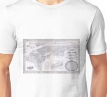 Vintage Map of New York City (1855) Unisex T-Shirt
