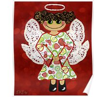 Fruit Salad Angel - she's quirky and cute as a button! Poster
