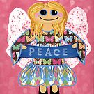 Butterfly Peace Angel - she has a message for all of us. by Lisa Frances Judd ~ Original Australian Art