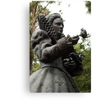 Queen Elizabeth Statue Canvas Print