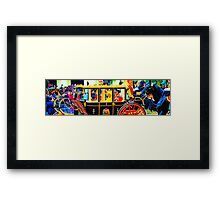 Groomed grandparents in colour Framed Print
