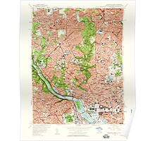 USGS Topo Map District of Columbia DC Washington West 256984 1956 24000 Poster