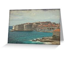 Medieval Old Town of Dubrovnik Greeting Card