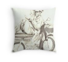 My motorbike is my home Throw Pillow