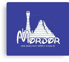 Mordor. The Lord Of The Rings Canvas Print
