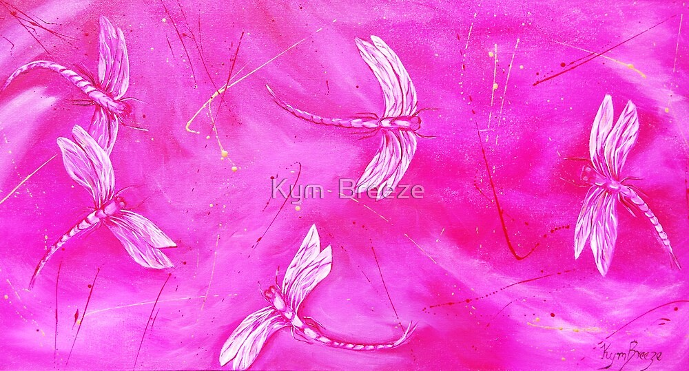 Magenta Flurry  by Kym  Breeze