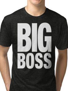 BIG BOSS (White) Tri-blend T-Shirt