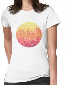 Rainbow city urban landscapes Womens Fitted T-Shirt