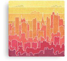 Rainbow city urban landscapes Canvas Print