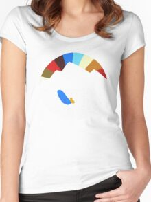 Last Man On Earth Rainbow Mountain w/ Waves Phil Miller Women's Fitted Scoop T-Shirt