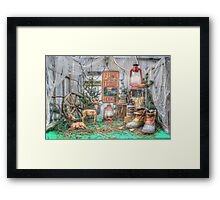 Down At The Lodge Framed Print