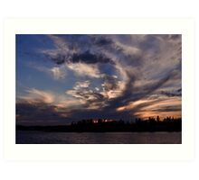 Prince Edward Island Sunset in October Art Print