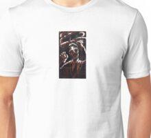 Zombie 2 color woodcut Unisex T-Shirt