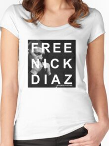 FREE NICK DIAZ Women's Fitted Scoop T-Shirt