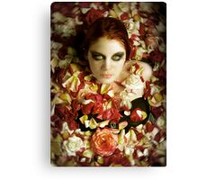 a flower without her petals Canvas Print