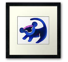Simba (Blue) Framed Print