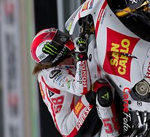 Marco Simoncelli in Assen iPhone case by corsefoto